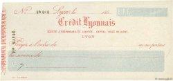 Francs FRANCE régionalisme et divers LYON 1865 DOC.Chèque SPL