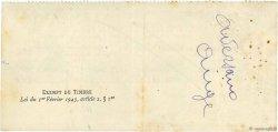 1600 Francs FRANCE régionalisme et divers Nice 1944 DOC.Chèque TTB