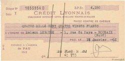 4180 Francs FRANCE régionalisme et divers PAU 1951 DOC.Chèque SUP