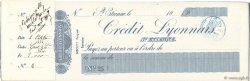 Francs FRANCE régionalisme et divers St.Étienne 1888 DOC.Chèque TTB