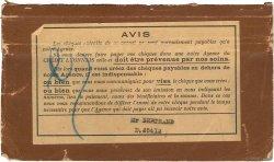 Francs FRANCE régionalisme et divers Paris 1939 DOC.Chèque TB
