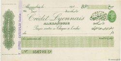 (écriture arabe) FRANCE régionalisme et divers ALEXANDRIE (ÉGYPTE) 1940 DOC.Chèque SUP