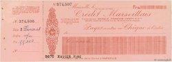 Francs FRANCE régionalisme et divers MARSEILLE 1948 DOC.Chèque SUP
