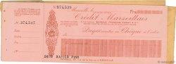 Francs FRANCE régionalisme et divers MARSEILLE 1947 DOC.Chèque TTB