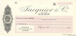 Francs FRANCE régionalisme et divers LYON 1943 DOC.Chèque SPL