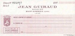 Francs FRANCE régionalisme et divers Saint-Ambroix 1943 DOC.Chèque SPL