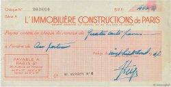 400 Francs FRANCE régionalisme et divers Paris 1947 DOC.Chèque TTB