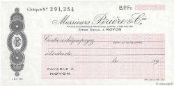 Francs FRANCE régionalisme et divers NOYON 1943 DOC.Chèque SPL