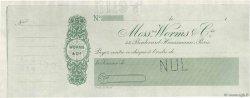 Francs FRANCE régionalisme et divers PARIS 1895 DOC.Chèque SPL