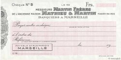 Francs FRANCE régionalisme et divers Marseille 1943 DOC.Chèque SPL