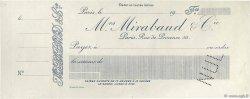 Francs FRANCE régionalisme et divers PARIS 1907 DOC.Chèque SUP