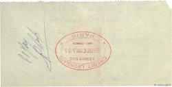 10000 Francs FRANCE régionalisme et divers PARIS 1955 DOC.Chèque TTB