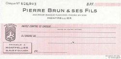 Francs FRANCE régionalisme et divers MONTPELLIER 1943 DOC.Chèque SPL
