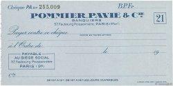 Francs FRANCE régionalisme et divers PARIS 1943 DOC.Chèque NEUF