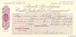 Francs FRANCE régionalisme et divers BAGNÈRES-DE-BIGORRE 1940 DOC.Chèque SUP