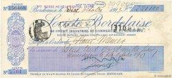 220000 Francs FRANCE régionalisme et divers Bordeaux 1913 DOC.Chèque SUP