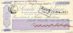 136000 Francs FRANCE régionalisme et divers BORDEAUX 1910 DOC.Chèque SUP