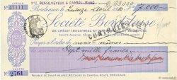 7000 Francs FRANCE régionalisme et divers BORDEAUX 1910 DOC.Chèque SUP