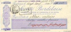16000 Francs FRANCE régionalisme et divers Bordeaux 1910 DOC.Chèque SUP