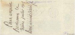 3000 Francs FRANCE régionalisme et divers BORDEAUX 1907 DOC.Chèque SUP