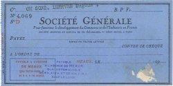 Francs FRANCE régionalisme et divers MEAUX 1937 DOC.Chèque TTB