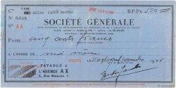 500 Francs FRANCE régionalisme et divers Paris 1946 DOC.Chèque TTB