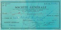 853862 Francs FRANCE régionalisme et divers BAYEUX 1956 DOC.Chèque TTB
