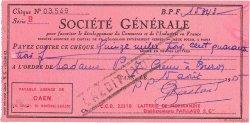 15343 Francs FRANCE régionalisme et divers CAEN 1955 DOC.Chèque SUP