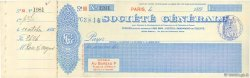 Francs FRANCE régionalisme et divers Paris 1896 DOC.Chèque SUP