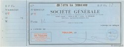 12 Francs FRANCE régionalisme et divers Toulon 1938 DOC.Chèque SUP