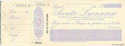 Francs FRANCE régionalisme et divers Lyon 1890 DOC.Chèque SUP