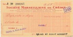 Francs FRANCE régionalisme et divers PARIS 1943 DOC.Chèque