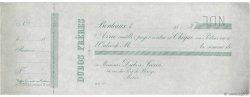 Francs FRANCE régionalisme et divers Bordeaux 1865 DOC.Chèque SUP