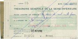 100000 Francs FRANCE régionalisme et divers LE HAVRE 1959 DOC.Chèque SUP