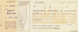 Francs FRANCE régionalisme et divers CAEN 1954 DOC.Chèque SUP