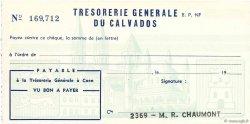 Francs FRANCE régionalisme et divers Caen 1960 DOC.Chèque SPL