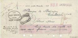 136707 Francs FRANCE régionalisme et divers Saint-Brieuc 1946 DOC.Chèque TTB