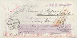 17131,95 Francs FRANCE régionalisme et divers SAINT-BRIEUC 1940 DOC.Chèque TTB