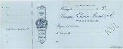 Francs FRANCE régionalisme et divers Wassy-Sur-Blaise 1900 DOC.Chèque SUP