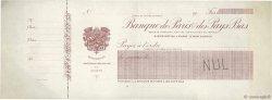 Francs FRANCE régionalisme et divers PARIS 1912 DOC.Chèque TTB