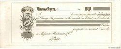 (B.P.) FRANCE régionalisme et divers BUENOS AYRES (ARGENTINE) 1850 DOC.Chèque TTB