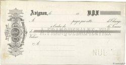 Francs FRANCE régionalisme et divers AVIGNON 1850 DOC.Lettre TTB