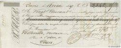 3542,25 Francs FRANCE régionalisme et divers Paris 1847 DOC.Chèque SUP