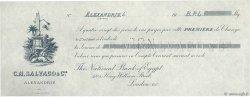 Livres Sterling FRANCE régionalisme et divers ALEXANDRIE (ÉGYPTE) 1900 DOC.Chèque SPL