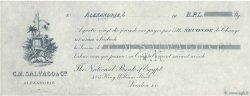 Livres Sterling FRANCE régionalisme et divers Alexandrie 1900 DOC.Chèque SUP
