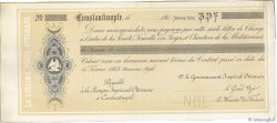 Francs FRANCE régionalisme et divers CONSTANTINOPLE 1868 DOC.Chèque TTB