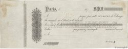 Francs FRANCE régionalisme et divers PARIS 1870 DOC.Chèque TTB