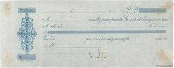 Francs FRANCE régionalisme et divers  1850 DOC.Chèque TTB