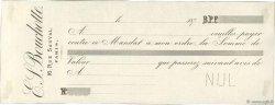 Francs FRANCE régionalisme et divers Paris 1870 DOC.Mandat SUP