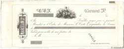 Francs FRANCE régionalisme et divers CLERMONT FERRAND 1850 DOC.Mandat TTB